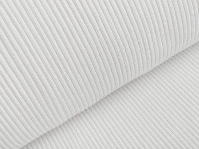 Grobes Ripp-Strick Bündchen im Schlauch - weiß