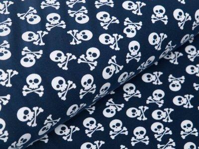 Jersey - Totenköpfe mit gekreuzten Knochen - marine