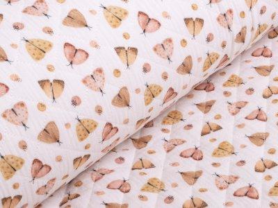 Musselin Double Gauze Rautenstepper - Motten - weiß