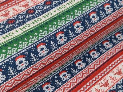 Leicht angerauter Sweat - HoHoHo Weihnachtliche Ornamente - bordeaux