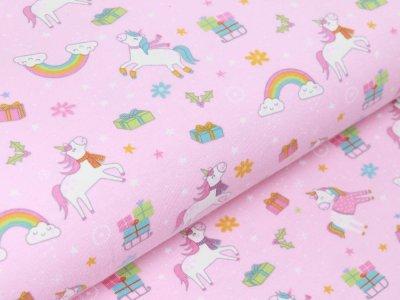 Jersey - Geheimnisvolle Einhörner und Weihnachtsgeschenke - rosa