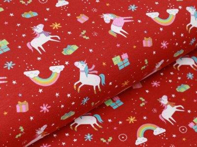 Jersey - Geheimnisvolle Einhörner und Weihnachtsgeschenke - terrakotta