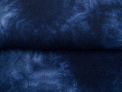 Musselin Baumwolle Double - Batikstyle - blau