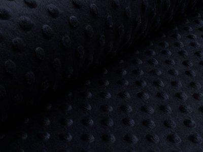 Wellnessfleece Minky mit Noppenprägung -  uni nachtblau