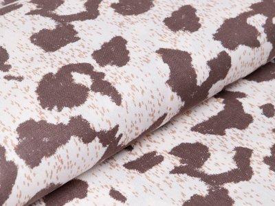 Webware Halbleinen - Animalprint-Gepard - wollweiß