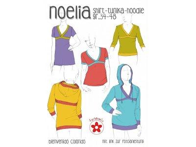 Schnittmuster Noelia Shirt, Tunika, Hoodie