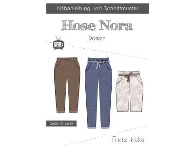 Papier-Schnittmuster Fadenkäfer - Hose NORA - Damen