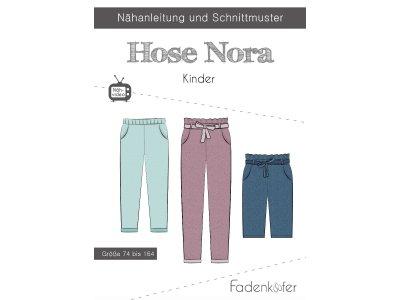 Papier-Schnittmuster Fadenkäfer - Hose NORA - Kinder