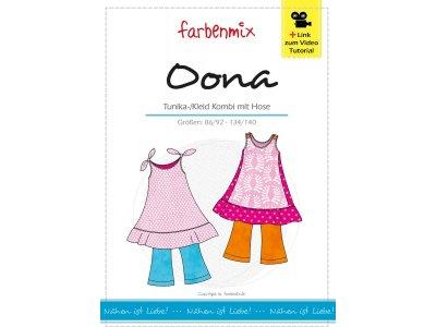 Schnittmuster OONA Tunika-Kombi Farbenmix