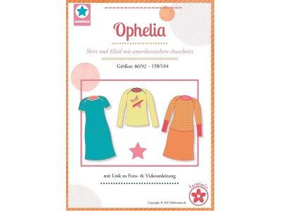 Schnittmuster Ophelia Shirt und Kleid mit amerikanischem Ausschnitt
