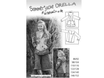 Schnittmuster ORELLA Sommerjacke Farbenmix