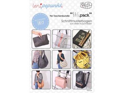 """Papier-Schnittmuster Lenipepunkt """"Bag.pack"""" - Taschen"""