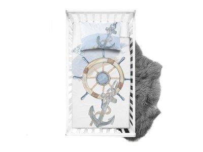 Webware Baumwolle Panel 100 cm x 135 cm maritimer Anker