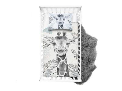 Webware Baumwolle Panel 75cm x 100cm Dschungel-Giraffe