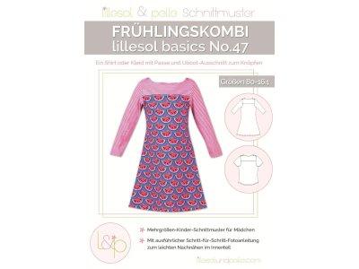 Papierschnittmuster lillesol basics No.47 Frühlingskombi Kleid & Shirt
