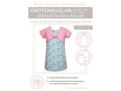 Papierschnittmuster lillesol basics No.48 Knotenraglan-Kleid, Shirt & Tunika