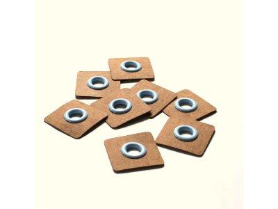 Aufnäh-Ösen auf SnapPap 8mm 4 Stück - uni pastellblau