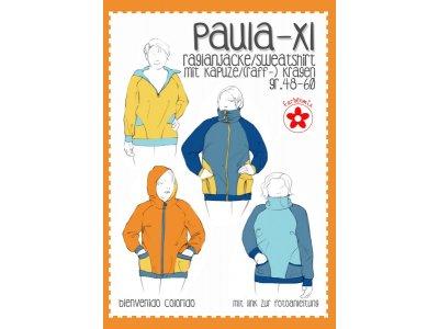 Papierschnittmuster Farbenmix Paula-XL  Plus-Size Damen-Sweatshirt