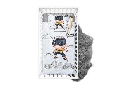 Webware Baumwolle Panel 100cm x 135cm kleiner Superheld Fledermaus