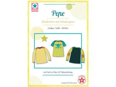 Schnittmuster Pepe Kindershirt mit Schulterpasse