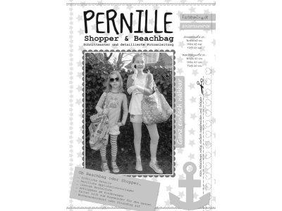 Schnittmuster PERNILLE Tasche Shopper Beachbag Farbenmix