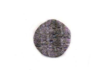 Runder Knopf Nussoptik flieder 30 mm
