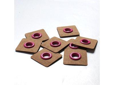 Aufnäh-Ösen auf SnapPap 8mm 4 Stück - uni pink
