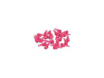 Slider/Automatikschieber 5 Stück  - pink