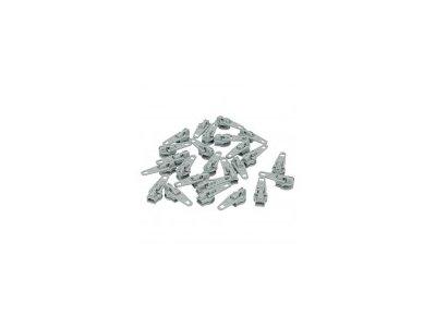 Slider/Automatikschieber 5 Stück  - helles grau