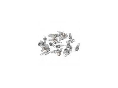 Slider/Automatikschieber 5 Stück  - silber