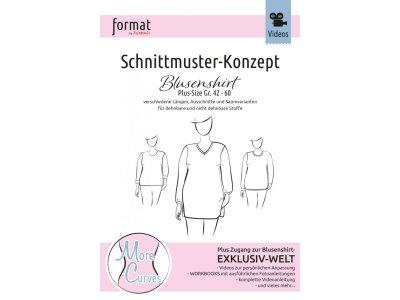 Papierschnittmuster Farbenmix Schnittmuster-Konzept Blusenshirt - Damen