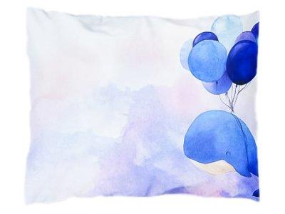 Webware Baumwolle PANEL 30 cm x 40 cm - fliegender Wal Ballons