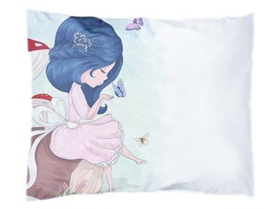 Webware Baumwolle Panel 30cm x 40cm Mädchen mit Schmetterling
