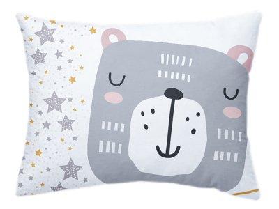 Webware Baumwolle PANEL 30 cm x 40 cm - Bär mit Sterne - weiß