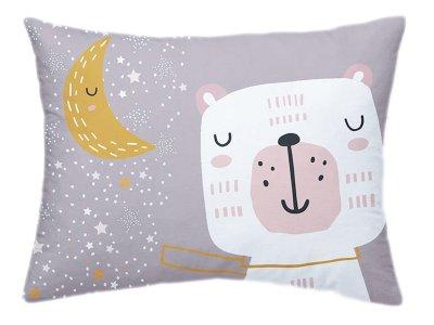 Webware Baumwolle PANEL 30 cm x 40 cm - Bär mit Sternen - rosa
