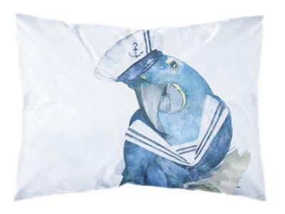 Webware Baumwolle PANEL 30 cm x 40 cm - maritimer Matrosen-Papagei