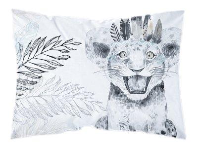 Webware Baumwolle PANEL 30 cm x 40 cm - Dschungel-Baby-Löwe