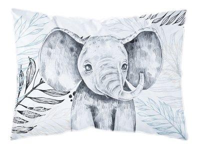 Webware Baumwolle PANEL 30 cm x 40 cm - Dschungel-Baby-Elefant