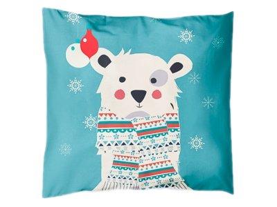 Webware Baumwolle PANEL 48 cm x 48 cm - Eisbär im Schnee