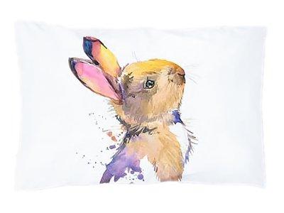 Webware Baumwolle PANEL 30 cm x 40 cm - gezeichneter Hase