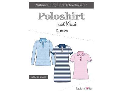 Papier-Schnittmuster Fadenkäfer - Poloshirt und Kleid - Damen
