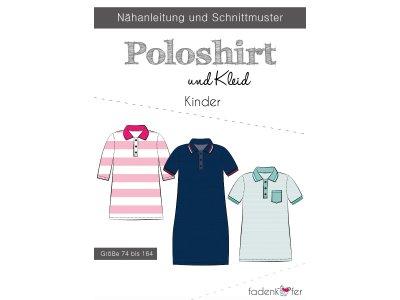 Papier-Schnittmuster Fadenkäfer - Poloshirt und Kleid - Kinder