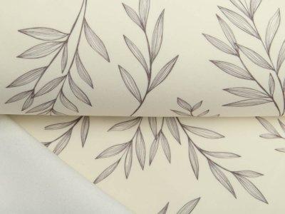 Softshell Jackenstoff Pristine-04 - Blätter - sand