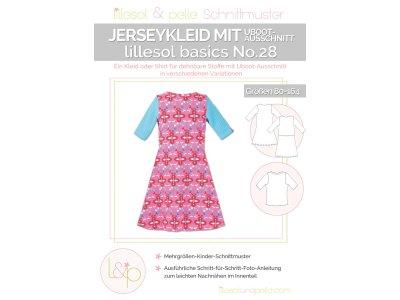 Papierschnittmuster lillesol basics No.28 Jerseykleid mit Uboot-Ausschnitt
