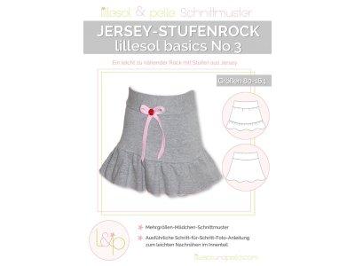 Papierschnittmuster lillesol basics No.3 Jersey-Stufenrock