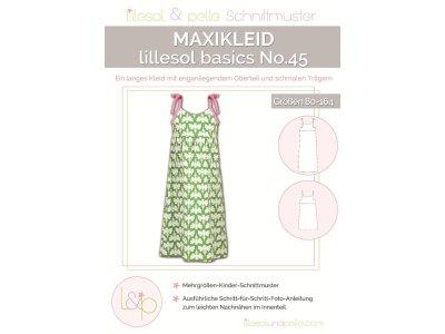 Papierschnittmuster lillesol basics No.45 Maxikleid