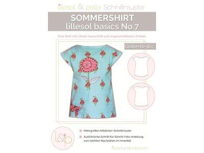 Papierschnittmuster lillesol basics No.7 Sommershirt