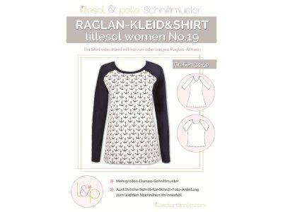 Papierschnittmuster lillesol women No.19 Raglan-Kleid & Shirt