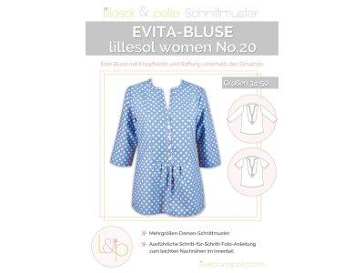 Papierschnittmuster lillesol women No.20 Evita-Bluse