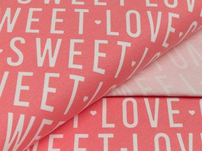 Sommer-Sweat - Love Cute Sweet - rosa/weiß